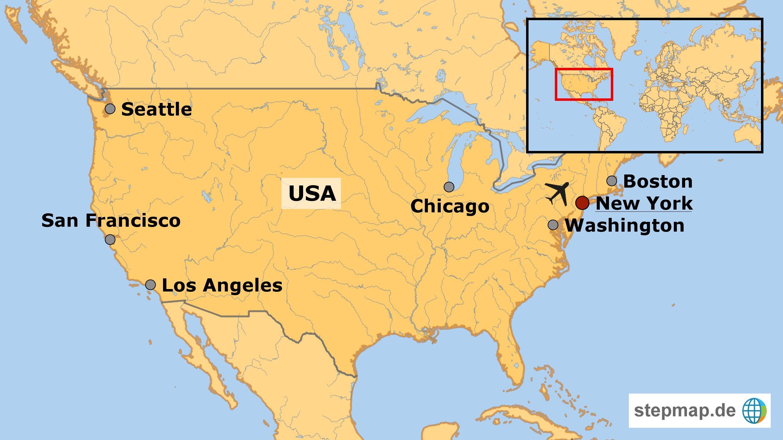 Amerika Karte New York.Städtereise New York Unvergleichliche Stadt